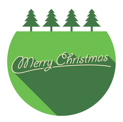 Merry Christmas Greeting Card. Vector illustration.