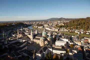 Salzburg Austria inner city with churches
