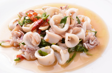 Fried squid with spicy