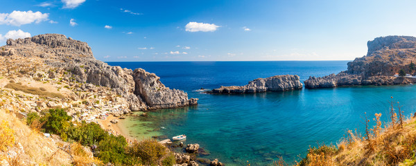 St Pauls Bay Lindos Rhodes