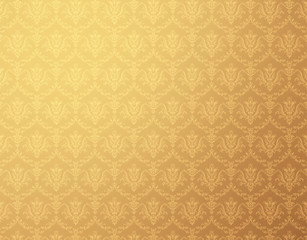 floral pattern gold wallpaper
