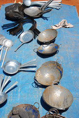 The seller of pots to the market Pomerini-Tanzania-Africa