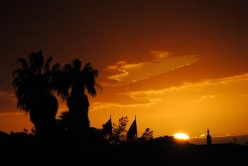 pôr de sol