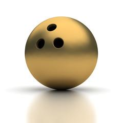 Golden Bowling Ball