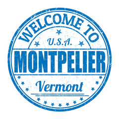 Welcome to Montpelier stamp