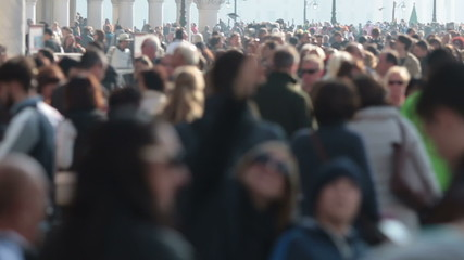 Crowd of people in Venice