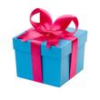 Geschenk mit rosa Schleife - 73493379