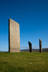 Stenness Standing Stones, Orkney, Scotland,