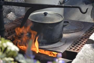 Coffee over fire
