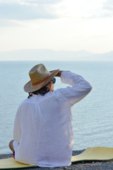 Man on vacation at sea side
