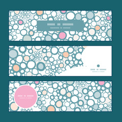 Vector colorful bubbles horizontal banners set pattern