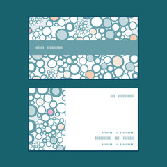 Vector colorful bubbles horizontal stripe frame pattern business