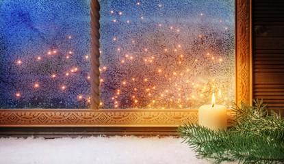 1. Advent, Fensterschmuck