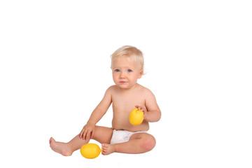 Boy with lemon
