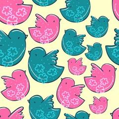 bird pattern textile