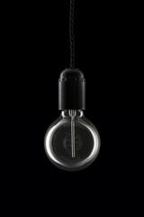 Round retro lightbulb - light off