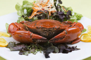 Fresh Steam red crab