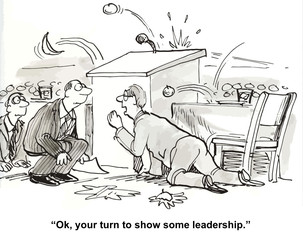 """""""Ok, your turn to show some leadership."""""""