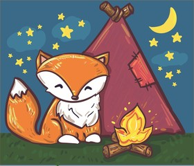 fox nature vector