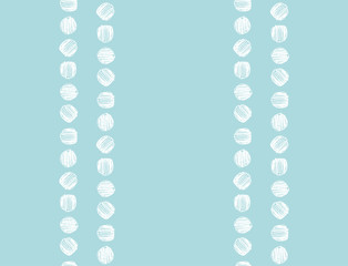 Seamless hand drawn dots pattern. Vector illustration.