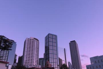 西新宿高層ビル街 トワイライト 西新宿淀橋周辺 再開発(市街地再開発事業地域)