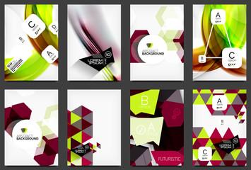 Set of modern flyers, brochures