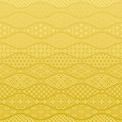 和波 金色の和風背景 伝統文様