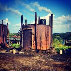 Ecology danger smoke carbon furnace