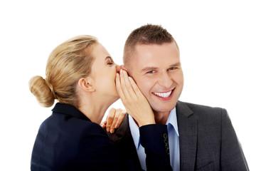 Woman share a secret