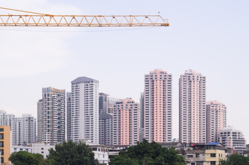 Buildings and construction in Bangkok of Thailand