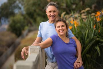 Elder couple full of vitality