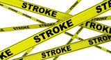 Инсульт (stroke). Желтая оградительная лента