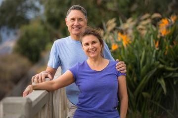 Faithful elder couple showing fidelity