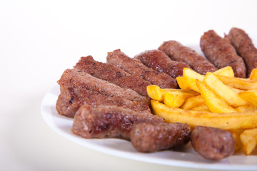 Grilled dish of minced meat cevapcici