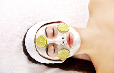 Young woman enjoying spa