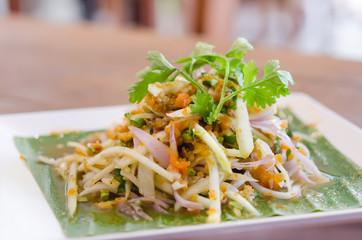 Spicy crab eggs salad