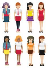 Faceless women template