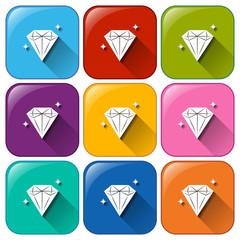 Icons with diamonds