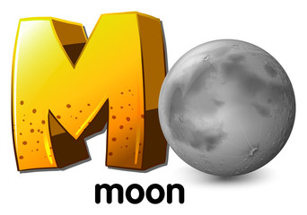 A letter M for moon