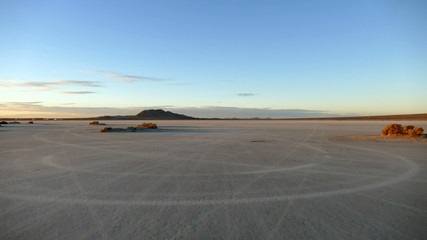 Desert Dry Lake Driving Sunset Time Lapse