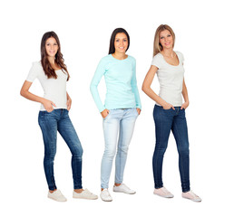 Three casual young women