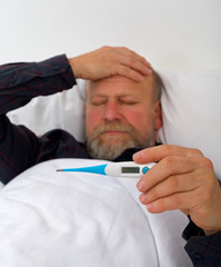 Unwell elderly man