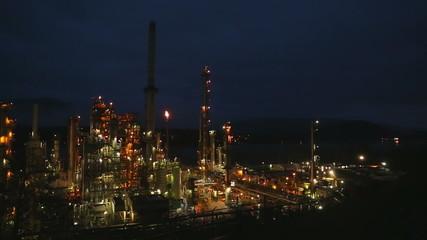 Oil Refinery Twilight