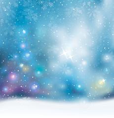 Christmas lights holiday mood blurred background.