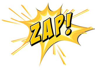Zap flash on white