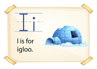 A letter I for igloo