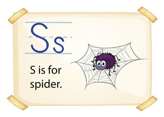 A letter S for spider
