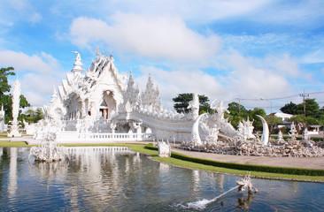 Rong Khun temple, White temple, Chiangrai Thailand