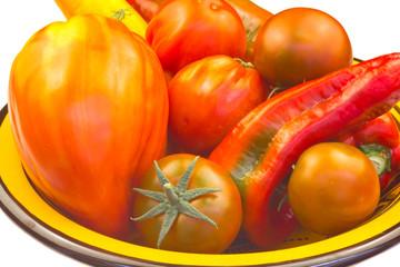 assiette de légumes  bio