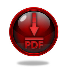 Pdf download circular icon on white background